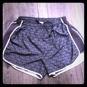 VS PINK running shorts with liner. Super cute!!